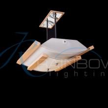 Люстра потолочная с плафоном на штанге MDF 8125/4 BU