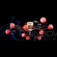 Люстра потолочная с плафонами MDF 8146/9 FG/OR