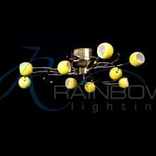 Люстра потолочная с плафонами  MDF 8146/9 FG/YL