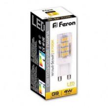 Светодиодная лампа Feron LB-432 G9 4W 2700K