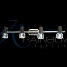 Светильник настенно-потолочный поворотный хром-венге 1053/4W