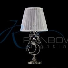 Настольная лампа классика с абажуром 136/1T CR