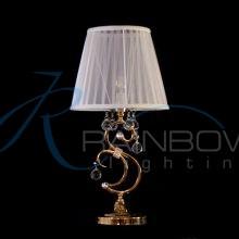 Настольная лампа с хрусталём и абажуром 136/1T FG
