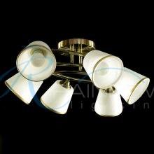 Люстра потолочная с плафонами бронза 30416/6 AB