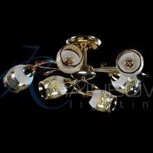 Люстра золотая потолочная с плафонами 30429/6 FG