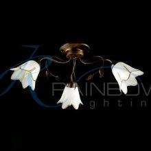 Люстра потолочная флористика с плафонами 45023/3 BK