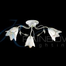 Люстра потолочная флористика с плафонами 45023/3 WT