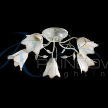 Люстра потолочная флористика с плафонами 45023/5 WT