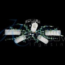 Люстра потолочная с плафонами VVF 8545/5 CR/GN