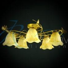 Люстра потолочная с плафонами MDS 6740/5 YL
