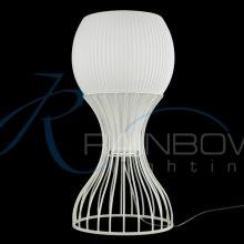 Настольная лампа с плафоном 236/1T WT