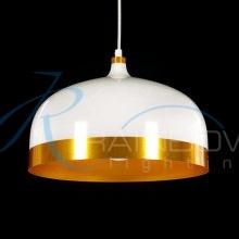 Люстра-подвес белая 3778/1S WT/GD