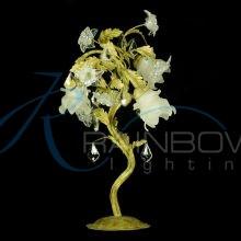 Настольная лампа флористика 2235/3T WT