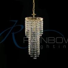 Подвес хрустальный золото 50119/1p FG/WT