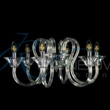 Люстра из прозрачного стекла под свечку 3871/6 CL