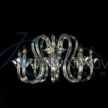 Люстра из прозрачного стекла под свечку 3871/8 CL
