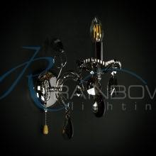 Бра хрустальное 50124/1w CR/SM