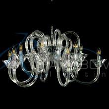 Люстра двухъярусная из прозрачного стекла 3871/6+6 CL