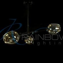 Люстра в стиле лофт молекула 3900/3 BK/AM