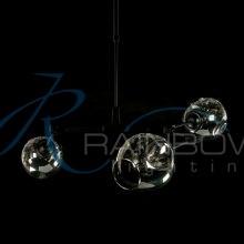 Люстра в стиле лофт молекула 3900/3 BK/SM