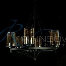 Люстра лофт с плафонами 4029/6 BK