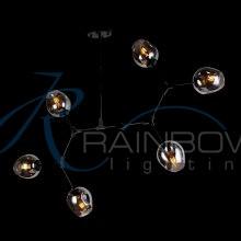 Люстра в стиле лофт молекула 3900/6 BK/SM
