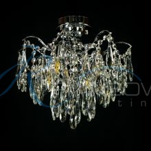 Люстра потолочная хрустальная хром 30678/4 CR