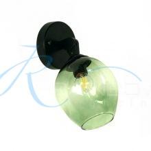 Бра с плафоном чёрное с зелёным 4057/1w BK/GN