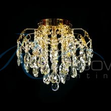 Люстра хрустальная потолочная золото 30674/4 FG