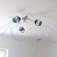 Люстра в стиле лофт молекула 3900/3 SL/BL