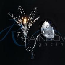 Бра цветочек хром 1393/1w CR