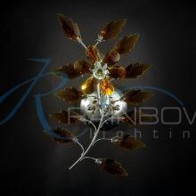 Бра хрустальное янтарь 37004/1w BR