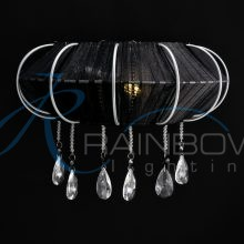 Бра с абажуром черное W 9599/01 D