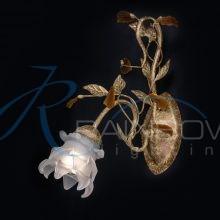 Бра с плафоном флористика золотистое MBF 8093/1w GOLD
