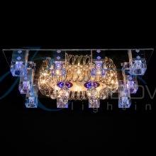 Люстра потолочная с плафонами прямоугольная 1328/10+8 CR