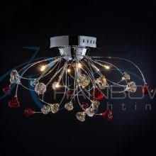 Люстра потолочная хром 3115/9 CR/RD