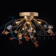 Люстра потолочная золото 3115/9 FG/BRN