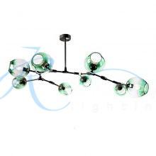 Люстра молекула 3900/8 BK/GN