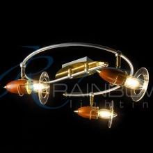 Люстра-спот потолочная с поворотными плафонами 61011 SB/ 3 S- SP FG