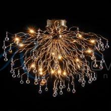 Люстра потолочная хрустальная золото MD 0167/18 FG