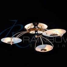 Люстра потолочная с плафонами золото VV 1074044/3 FG