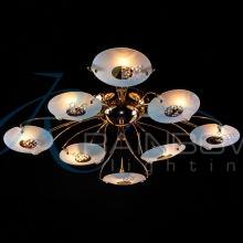 Люстра потолочная с плафонами золото VV 1074044/4+4 FG