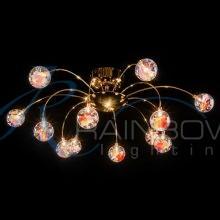 Люстра потолочная с плафонами золото VVP 0070/12 FG