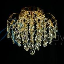Люстра потолочная хрустальная золото 30674/4 FG