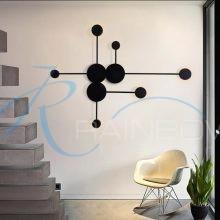 Дизайнерское бра LED черное 4438/6w BK