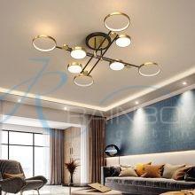 Люстра потолочная LED на 3 режима свечения большая 4583/8