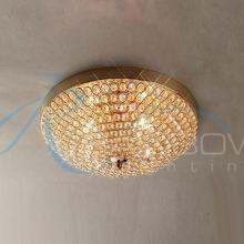 Люстра потолочная хрустальная золото малая 30599/2 FG