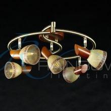 Потолочная люстра с поворотными плафонами JX 9077/5 AB